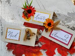 thanksgiving place card craft crafts by amanda