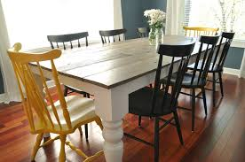 chairs to go with farmhouse table free farmhouse dining table plans decor and the dog