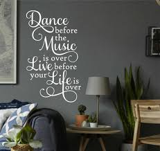dance before music over live before life over vinyl wall zoom