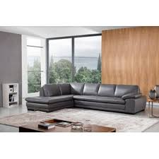 Gray Leather Sectional Sofa by Leather Sectional Sofas You U0027ll Love Wayfair