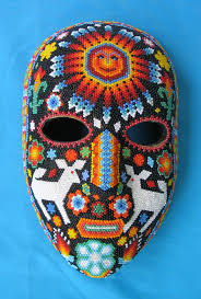 bead masks huichol mask with sun chaquira a beaded mask that de flickr