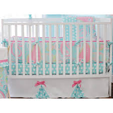 Baby Cribs Decorating Ideas by Bedroom White Crib With Coral And Turquoise Bedding For Stunning