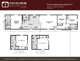 schult modular home floor plans schult independence 8016 79 1 excelsior homes west inc