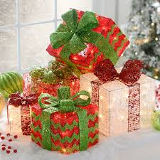 where to decorate with pre lit gift boxes for my