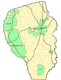 county map maps of fayette county
