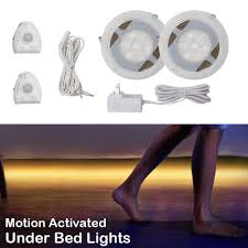 motion activated led light strip under bed lights motion sensor for double bed motion activated bed
