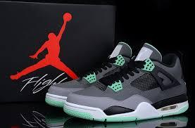 green glow 4 air 4 retro green glow grey cement grey black
