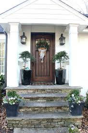 decorative stone around front door faux modern exterior floors