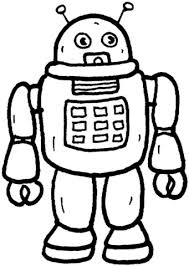robot coloring free printable coloring pages
