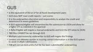Usda Rural Housing Service Usda Rural Development Mortgage Training Ppt Download