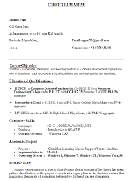 technical resume format computer science student resume sle resume template
