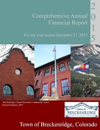 financial report cover page accounting and financial reporting breckenridge co