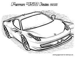 ferrari 458 sketch ferrari coloring pages