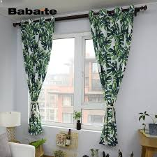 Cheap Stylish Curtains Decorating Babaite Nordic Green Leaves Stylish Curtain Modern Printing Home