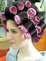 sissy feminization haircuts mise en plis bigoudis velcros rose all rolled up pinterest