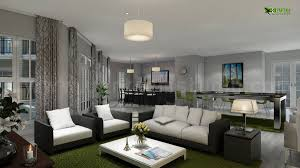 royal and attractive looking living rooms yantram studio interior design rendering for club house living room and kitchen