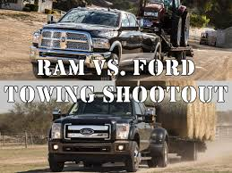 Ram Truck 3500 Towing Capacity - video heavyweight title fight ram vs ford towing shootout