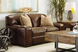 Brown Leather Loveseat Simon Li Longhorn Bramble Brown Leather Loveseat Mathis Brothers