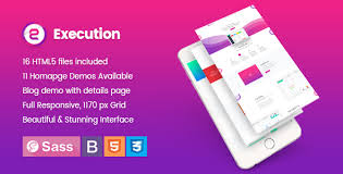 execution app landing u0026 product showcase html5 template by codepixar