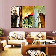 aliexpress com buy high quality printing oil paintings triptych