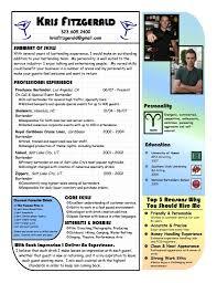 Bartender Job Description For Resume by Bartender Resume Example Bartending Resume
