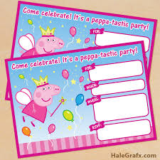 peppa pig invite free printable princess fairy peppa pig birthday