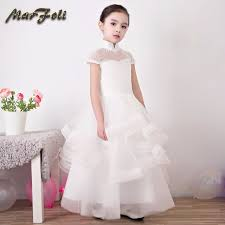communion dress 2018 new flower girl dresses with knee length