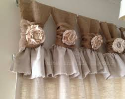 Burlap Ruffle Curtains White Linen And Burlap Ruffles Curtains Wide Ruched Tabs
