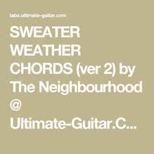 sweater weather guitar chords sweater weather chords ver 2 by the neighbourhood