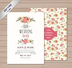 weeding card vintage wedding card vector free vector in adobe illustrator
