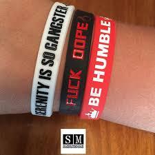 rubber wristband bracelet images Hustle hope serenity fuck dope 3 pack rubber wristbands sobermode jpg