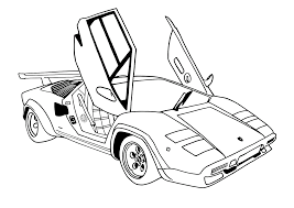 lamborghini drawing drawn lamborghini coloring page pencil and in color drawn