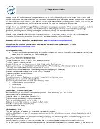 additional skills resume examples brand ambassador resume sample free resume example and writing 10 brand ambassador resume sample riez sample resumes