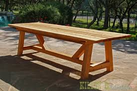 ana white 10 foot long provence table with 4x4 u0027s diy projects