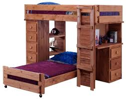 l shaped bunk beds with desk harriet bee chaves student twin over twin l shaped bunk bed with