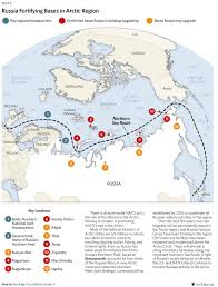 Arctic Map Chart Of Russia U0027s Fortification Of The Arctic Business Insider