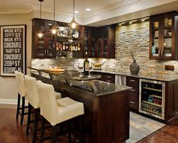 designs of mini bar at home with light and marble counter table