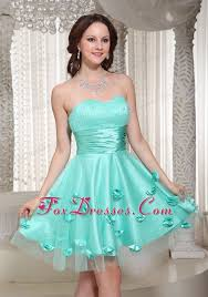 8th grade social dresses new turquoise cocktail dress flowers decorate