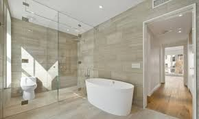 wall tile bathroom ideas stylish glass shower door with oval tub and chic scandinavian