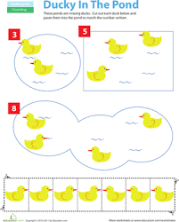 cut and paste counting ducks worksheet education com