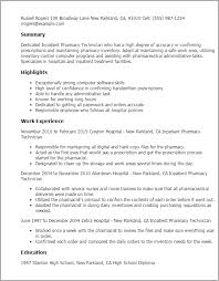 pharmacy technician resume pharmacy tech resume pertamini co