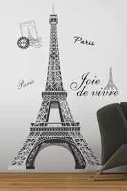 eiffel tower wall decor for maid u0027s room design ideas and decor