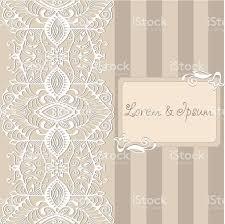 Invitation Card Border Abstract Background Lacy Frame Border Pattern Wedding Invitation