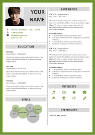 fitzroy free resume template microsoft word green layout