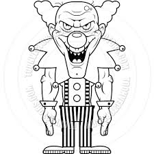 scary clown coloring pictures free coloring pages art
