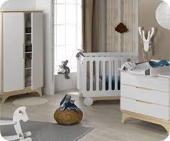 chambre en bois chambre bébé complète pepper blanche et bois