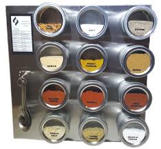 Stainless Steel Wall Spice Rack 12 Tin Magnetic Spice Rack 30 Labels Spoons Stainless Steel