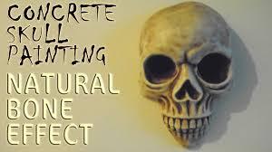 concrete skull painting natural bone effect youtube