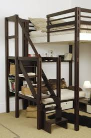 Build Your Own Wooden Bunk Beds by Diy Free Standing Loft Bed With Built In Couch Below