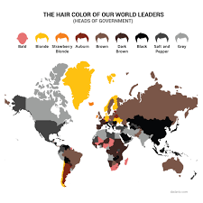 the hair color of country heads map randommization